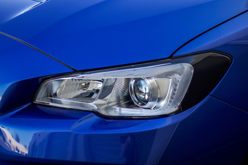 Headlight Amber Delete With Eyelid Vinyl Overlay - Gloss Black | Subaru WRX/STI 2015-2017