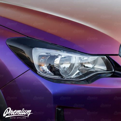 Headlight Amber Delete with Eyelid Overlay | 2013-2017 Subaru Crosstrek XV
