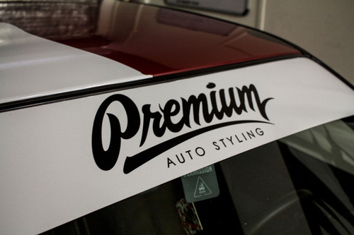 Premium Signature Window Banner ( White / Black )