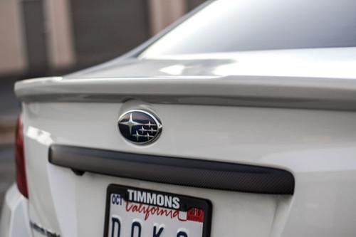Carbon Fiber / Satin Black / Gloss Black - Trunk Trim Vinyl Overlay | 2015-2021 Subaru WRX / STI
