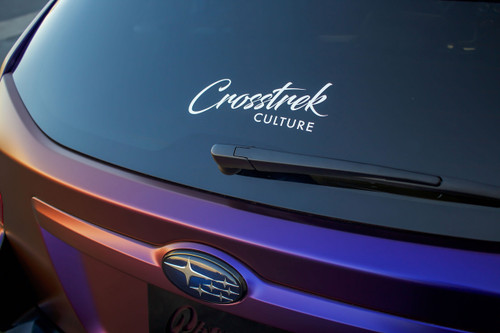 Crosstrek Culture Logo Decal | 9 inch - White