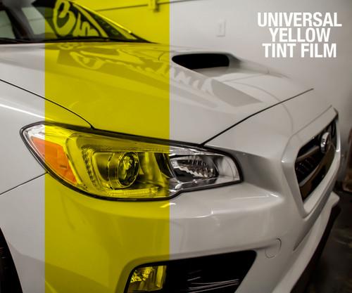 Yellow Tint - Bulk Tint Film 13.5-inch wide x 1-15ft. ( Perfect for tinting Headlights, Tail Lights, Fog Lights, Reflectors, etc. )