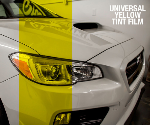 Yellow Tint - Bulk Tint Film 13.5-inch wide x 1-15ft. ( Perfect for tinting Headlights, Tail Lights, Fog Lights, Reflectors, etc. )