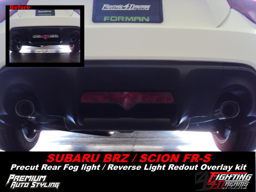 Rear Bumper Reverse Light RED Overlay (2012-2018 BRZ)