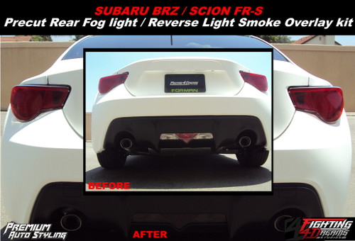 Rear Bumper Reverse Light Smoked Overlay (2012-2018 BRZ)