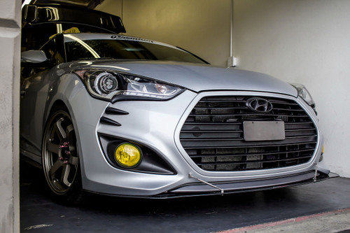Fog Light Tint Overlay - Rally Yellow/Smoke | 2012-2017 Hyundai Veloster Turbo