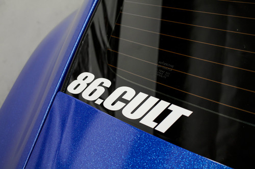 """86 Cult Decal ( 10"""" White )"""