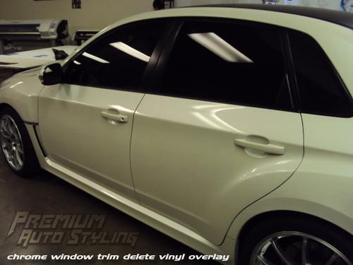 Matte Black Window Trim Vinyl Overlay Kit Installed By Premium Auto Styling