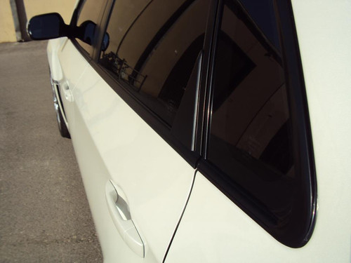 Matte Black Window Trim Overlays : 2008 - 2013 WRX STI Sedans