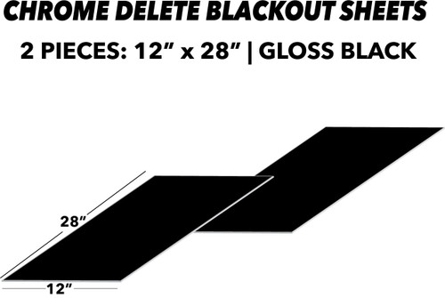 Blackout (Chrome Delete) Sheets 2pc. | Gloss Black