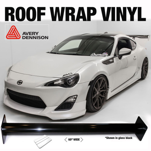 Gloss Black or Satin Black - Universal Roof Wrap Vinyl (Measure to Order) | Fits Any Car
