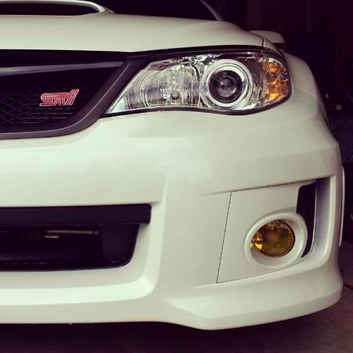 2008 - 2013 WRX STI Pre Cut Yellow Fog Light Tint Overlays: Premium Auto Styling