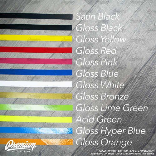 Rear Bumper Pinstripe (Choose Your Color) | 2012-2017 Scion FRS