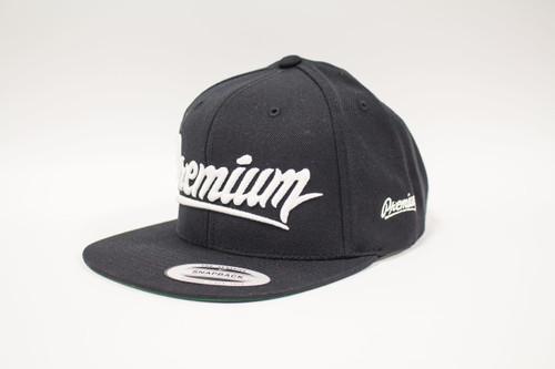 Premium Snapback Hat ( black / white )
