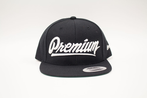 Premium Snapback Hat ( black / white )