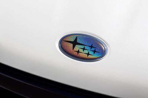 Psychedelic Front & Rear Emblem with Optional Steering Wheel Overlay ( Choose Your Star Color ) | 2008-2014 Subaru WRX / STI Hatchback