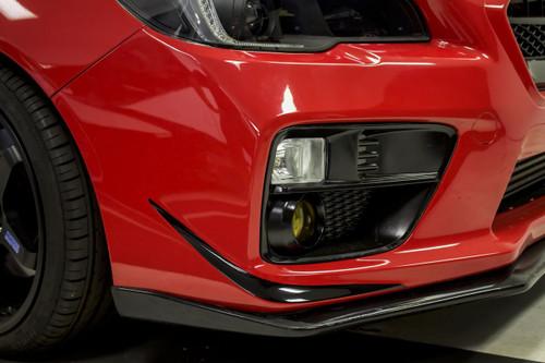 Front Boomerang Vinyl Accent Overlay - Gloss Black / Satin Black / Carbon Fiber | 2015-2017 Subaru WRX / STI