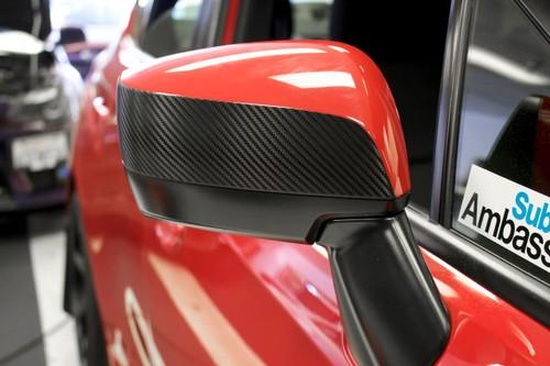Side Mirror Accent Vinyl Overlay - Gloss Black / Satin Black / Carbon Fiber | 2015-2019 Subaru WRX / STI