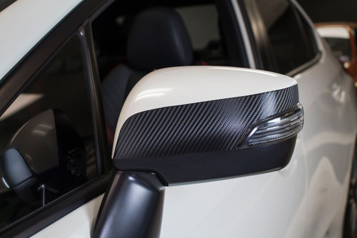 Side Mirror Accent Vinyl Overlay - Gloss Black / Satin Black / Carbon Fiber | 2015-2019 Subaru WRX / STI