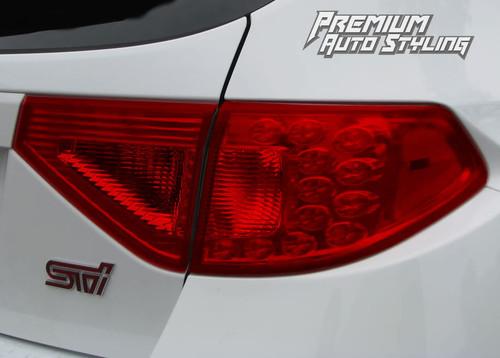 2008-2014 Subaru WRX & STI Hatchback Red Tail Light Tint Overlays Full