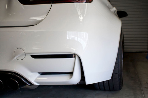 Smoked Rear Bumper Reflector Overlays (2014-2018 BMW M3)