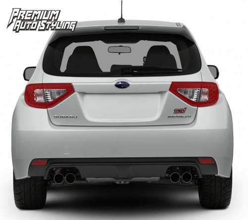 Tail Light Overlays w/ Reverse & Blinker Cut Outs - Red Tint | 2008-2014 Subaru WRX & STI Hatchback