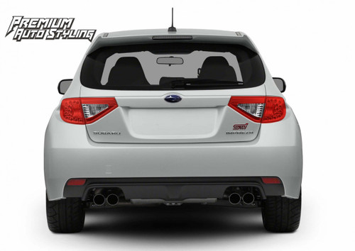2008-2014 Subaru WRX & STI Hatchback Red Tail Light Tint Overlays w/ Reverse Cut Outs