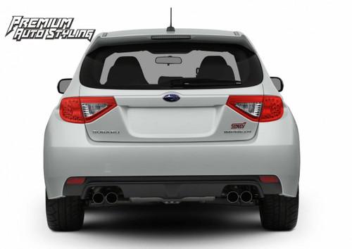 2008-2014 Subaru WRX & STI Hatchback Red Tail Light Tint Overlays w/ Reverse Cut Outs