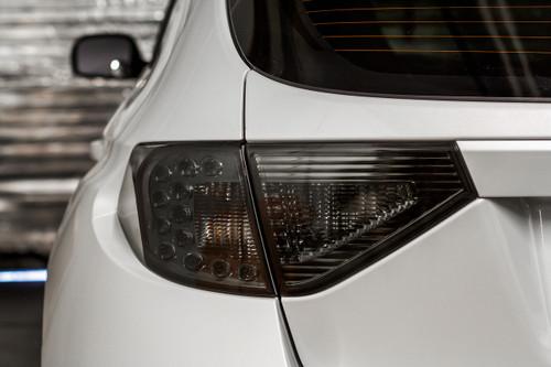 2008-2014 Subaru WRX & STI / 2008-2011 Impreza Hatchback Full Smoke Tail Light Tint Overlays