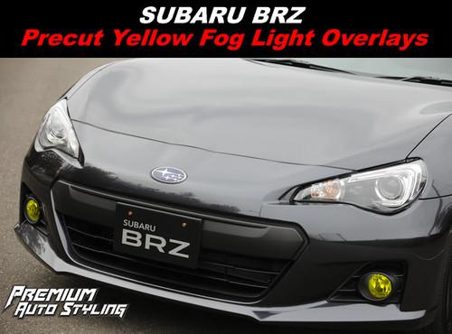 Subaru BRZ Yellow Fog Light Tint Overlays By: Premium Auto Styling