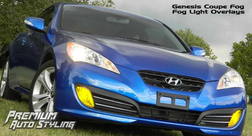 Pre-Cut Fog Light Vinyl Overlays - Rally Yellow Tint / Smoke Tint | 2009-2012 Genesis Coupe