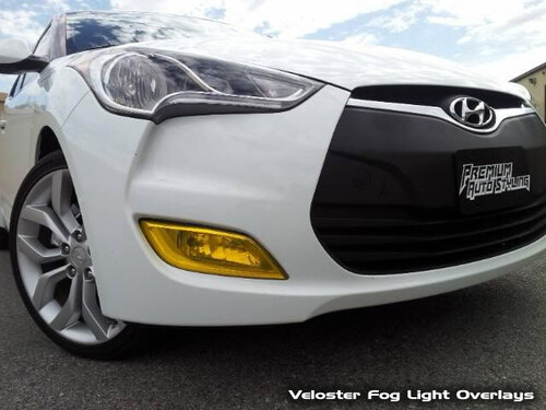 Fog Light Tint Overlay - Rally Yellow/Smoke | 2011-2017 Hyundai Veloster N/A (Non Turbo)