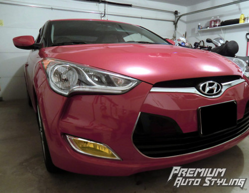 Fog Light Tint Overlay - Rally Yellow/Smoke | 2011-2017 Hyundai Veloster N/A (Non Turbo)