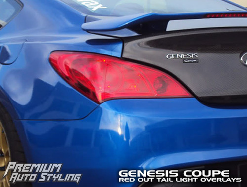 Tail Light Red Out Overlay - Red Tint | 2009-2012 Genesis Coupe
