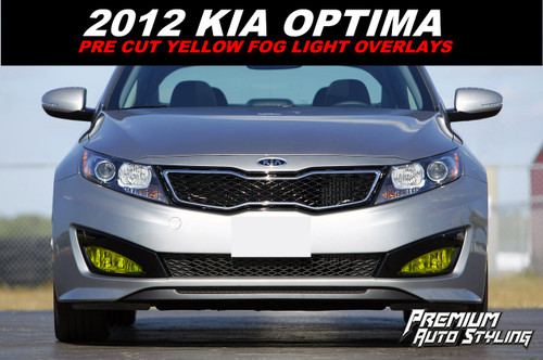 Pre-Cut Fog Light Vinyl Overlays (2011-2013 Kia Optima)