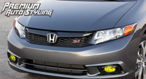 2012 Honda Civic SI Yellow Fog Light Overlays