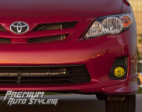 Toyota Corolla Pre Cut Yellow Tint Fog Light Vinyl Tint Overlays 