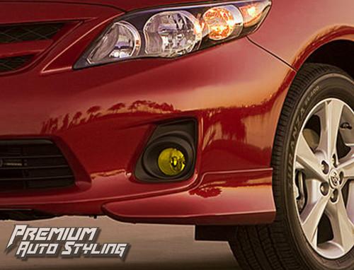 Toyota Corolla Yellow Tint Fog Light Vinyl Overlays By: Premium Auto Styling