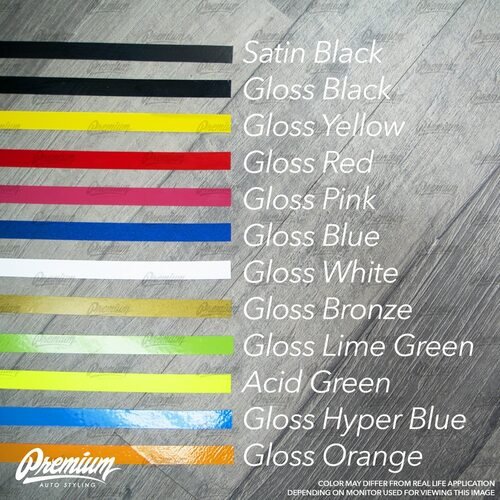 Fog Bezel Pinstripe Set - Choose Your Color | 2018 + Subaru WRX & STI