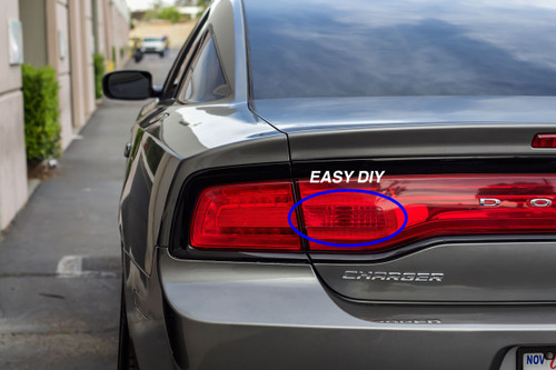 Tail light Red Out Overlays (2011-2014 Dodge Charger)