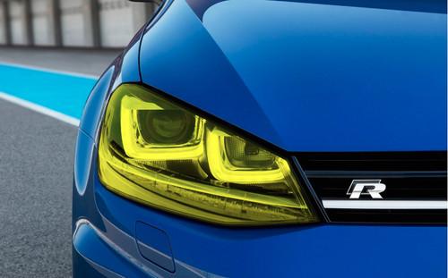 Yellow Headlight Tint Overlays (2015-2017 Golf & GTI)