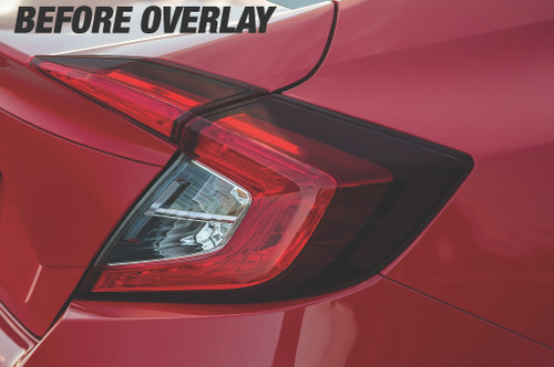 Tail Light Red Tint Insert Overlays | 2016-2017 Honda Civic Sedan