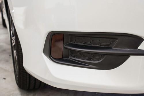 Rear Bumper Reflector Smoke Tint Overlays | 2016-2017 Honda Civic Sedan
