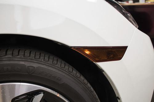 Smoked Front Side Reflector Light Overlays | 2016-2021 Honda Civic Sedan