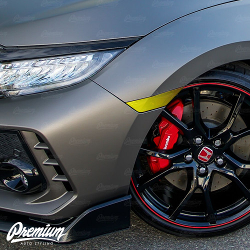 Smoked Front Side Reflector Light Overlays (2016-2019 Civic)