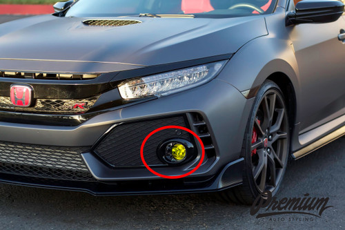 Fog Light Overlay - Yellow Tint | 2016-2019 Honda Civic
