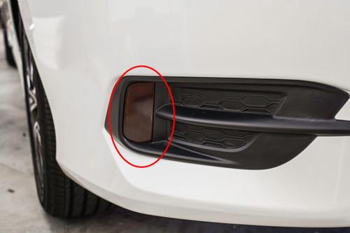 Rear Bumper Reflector Smoke Tint Overlays | 2016-2017 Honda Civic Coupe