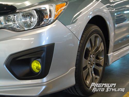 Fog Light Tint Overlay - Rally Yellow/Smoke   2012-2017 Subaru Crosstrek XV / Impreza