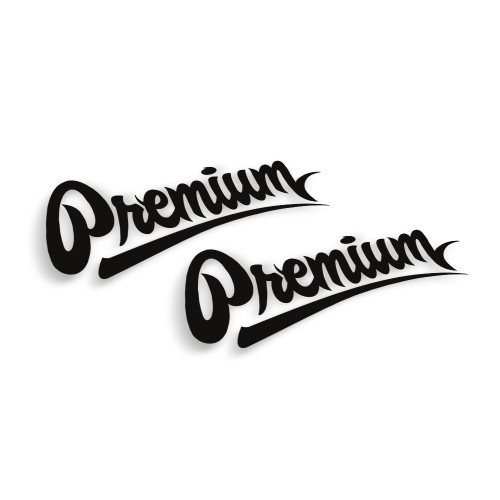 Premium Logo Decal | Small 6 inch Set of 2 (Choose Your Color)