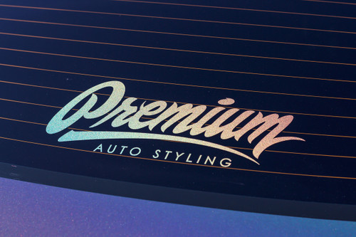 "14"" Premium Signature Logo Decal (LIMITED EDITION HOLOGRAPHIC)"